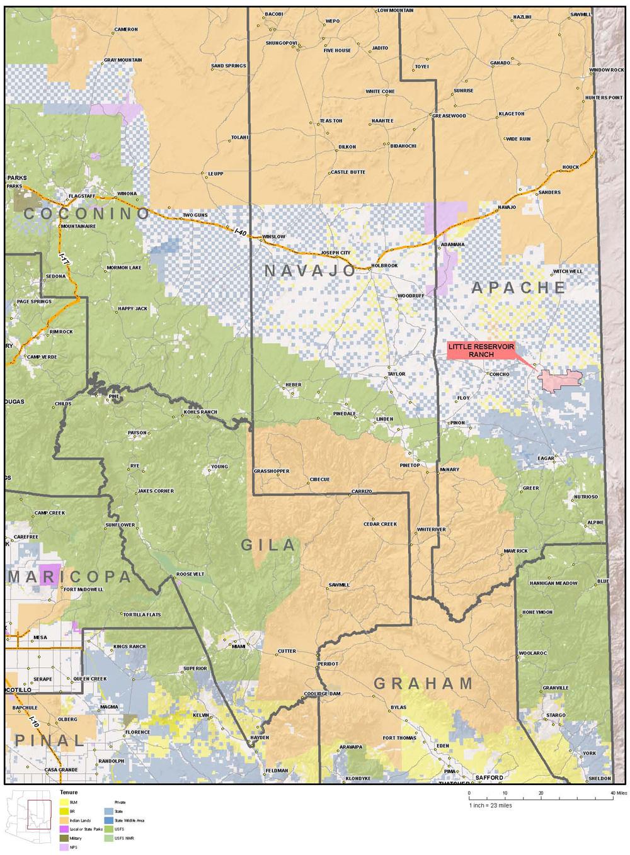 Apache County Arizona Map.Little Reservoir Ranch Apache County Arizona